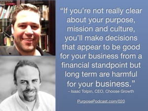 Isaac Tolpin Purpose Podcast Quote
